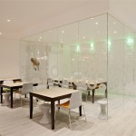 Commercial and residential interior design; glass cube room