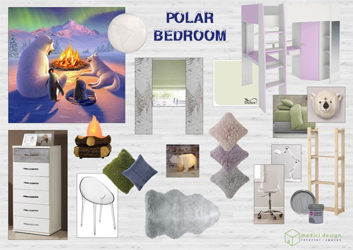 Polar style girls' bedroom